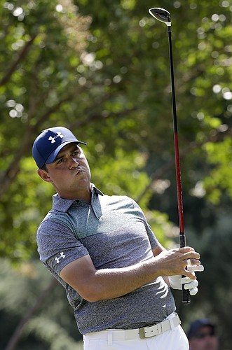 Gary Woodland was tied for third after the first round of the PGA championship. (AP photo).