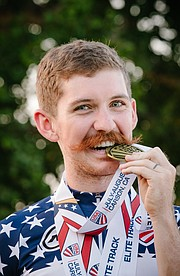 Lawrence resident Ashton Lambie won gold in individual pursuit at the USA Cycling's national championshps in Carson, California. (Photo by Andrew Owen White)