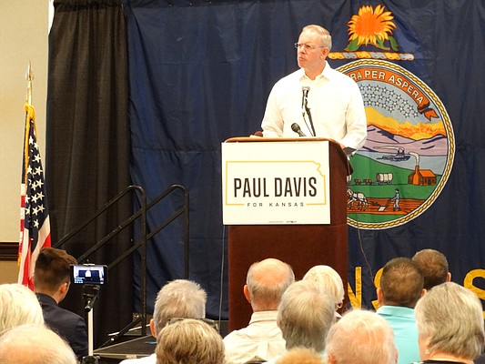 Lawrence Democrat Paul Davis officially kicked off his campaign for the 2nd District congressional seat during a series of rallies Tuesday, starting with one in Topeka where about 100 supporters turned out.