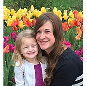 Erin Berg and her daughter, Mazey Berg, 3.