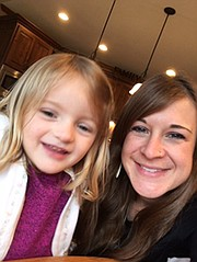 Erin Berg and her 3-year-old daughter, Mazey.