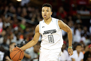 Team Clutch''s Devon Dotson #0 in action against Team Drive in the Under Armour Elite 24 game on Saturday, August 20, 2016 in Brooklyn, NY. (AP Photo/Gregory Payan)