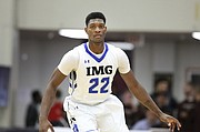 IMG Academy's Silvio De Sousa #22 in action against Wasatch Academy during a high school basketball game at the 2017 Hoophall Classic on Sunday, January 15, 2017, in Springfield, MA.