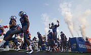 The Jayhawks take the field for the home opener against Southeast Missouri on Saturday, Sept. 2, 2017 at Memorial Stadium.