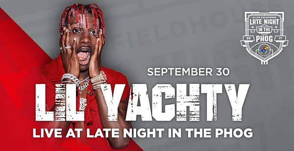 Lil Yachty is coming to Kansas. (Photo courtesy of Kansas Athletics)