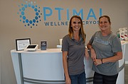 Tashina Case and her mother, Vicki Downer, are general manager and assistant manager of Optimal Wellness and Cryospa, 4931 W. Sixth St.