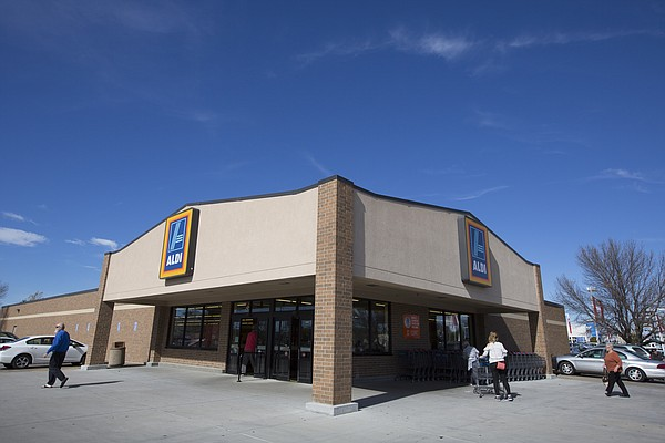 The Lawrence Aldi store at 31st and Iowa streets has filed plans to tear down the existing store and build a new store at the same site.