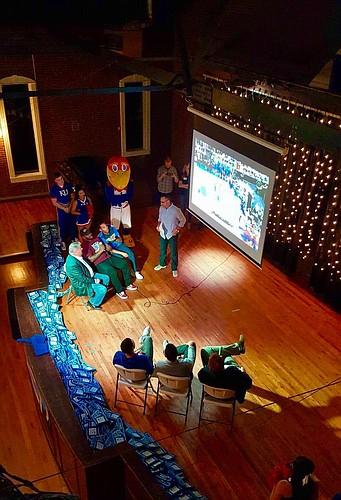Five members of KU's 2008 national title team joined the KUsports.com crew on stage at Abe & Jake's on Thursday night to re-watch the end of the Memphis game and offer their insight into the comeback.