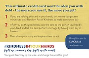 """A """"good card"""" from KU&squot;s Chabad House"""