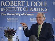 The Dole Institute presented U.S. Sen. Tom Harkin with the 2017 Dole Leadership Prize Sunday, Oct. 29, 2017 at the Dole Institute of Politics at the University of Kansas. Harkin represented Iowa in the U.S. Congress for more than four decades, including 30 years as a U.S. Senator. As a young senator, Harkin crafted the landmark legislation that would become the Americans with Disabilities Act (ADA). His long career focused on issues related to health care access and nutrition, farm policy, labor issues and more.