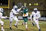 Free State junior receiver Keenan Garber breaks loose for a long run against Junction City on Friday at FSHS. The play was called back because of a penalty.