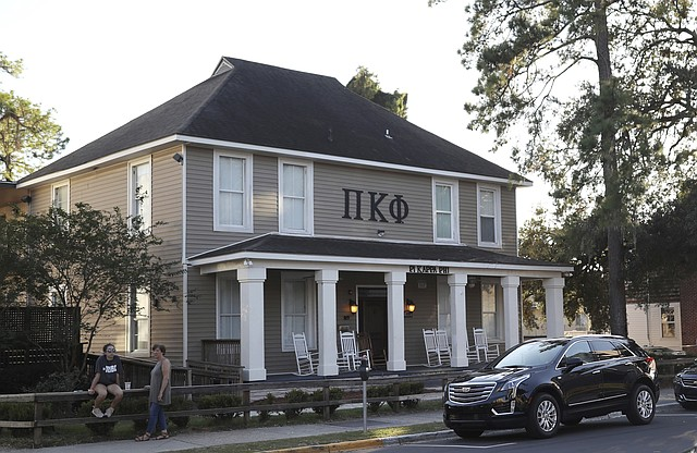 This Nov. 3 photo shows Florida State University's Pi Kappa Phi fraternity house near the FSU campus in Tallahassee, Fla. Florida State President John Thrasher announced during a news conference at FSU on Monday the suspension of all greek life activities at the university following the death at a Pi Kappa Phi fraternity pledge.
