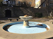 The Alumni Place Fountain on the University of Kansas campus is pictured Friday, Nov. 24, 2017.