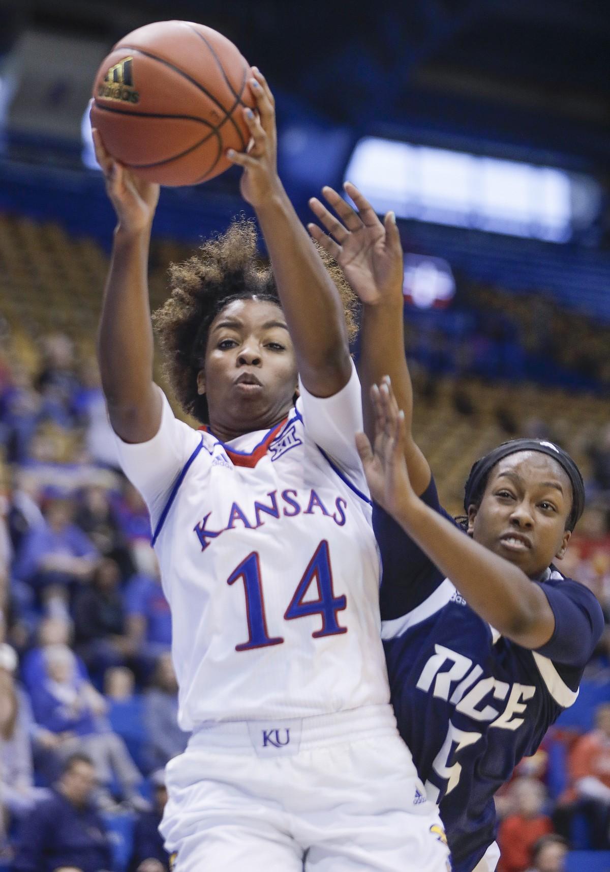 Kansas women's basketball vs. Rice | KUsports.com