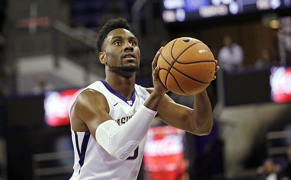 Washington's Jaylen Nowell shoots a free throw against Seattle in an NCAA college basketball game against Seattle Friday, Nov. 24, 2017, in Seattle.