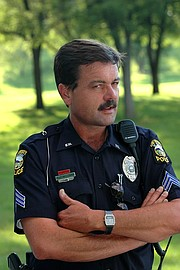 "University of Kansas police Deputy Chief Robert J. ""Bobby"" Williams Jr. is pictured during his time as a sergeant with the department."