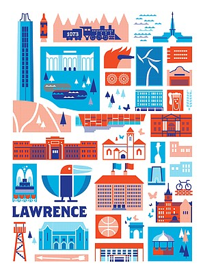Patrick Giroux's Lawrence landmark print. Submitted