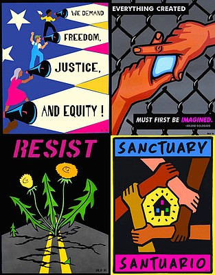 Radical posters from muralist Dave Loewenstein. Submitted