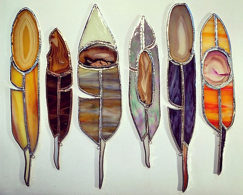Agate glass sun catchers by John Niswonger. Submitted