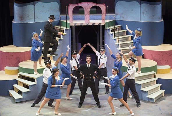 A recent photograph from Theatre Lawrence's production of Catch Me If You Can. photo by Mike Yoder