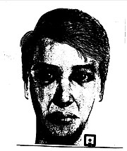 A composite sketch of a man seen in the area before an October 2000 rape in Manhattan, the first of a series of rapes in Manhattan and Lawrence that are believed to be connected.