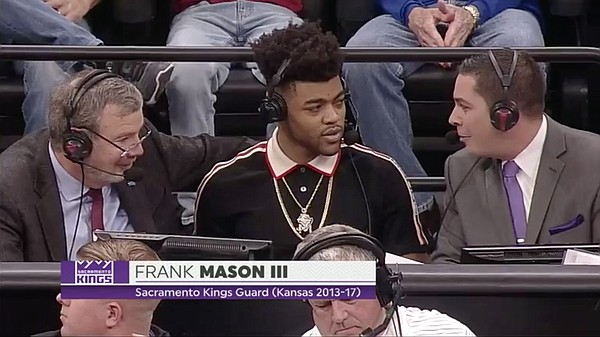 Frank Mason III joins ESPN2's broadcast of Kansas vs. Stanford Thursday night, in Sacramento.
