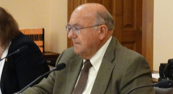 In this file photo from Sept. 19, 2017, Rep. Steve Alford, R-Ulysses, sits in on a task force meeting at the Kansas Statehouse in Topeka.