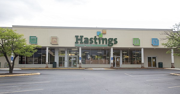 This file photo from June 2016 shows the Hastings bookstore and entertainment retailer at 1900 W 23rd St. The building is currently vacant.