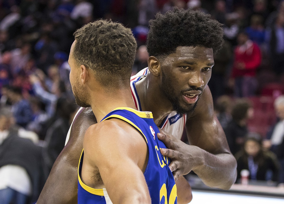 Stephen Curry Drafts Joel Embiid To His Nba All Star Team Hawks In The Nba Kusports Com Mobile
