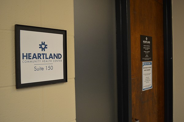 The entrance to Heartland Community Health Center, 346 Maine St., Suite 150, is shown Friday, Jan. 26, 2018.