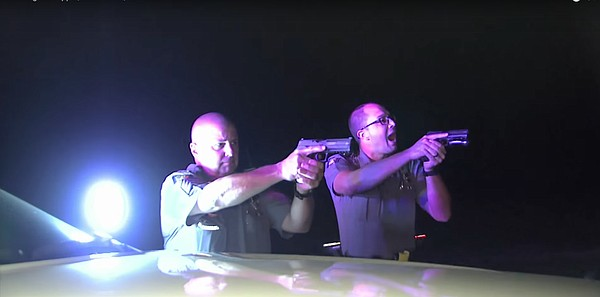 A still image from an episode of COPS featuring the Lawrence Police Department that aired Jan. 29, 2018.