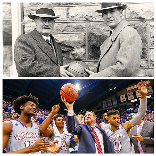 From James Naismith and Phog Allen to Bill Self and so many memorable people, places and moments in between, the first 120 years of Kansas Basketball, which will be celebrated Saturday, Feb. 3, 2018, during KU's home game with Oklahoma State, have delivered some of the best success and story lines that college basketball has to offer.