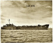 "USS LST 470, on which Ellsworth ""Toby"" Westgate suffered his injury, is pictured in this photo."