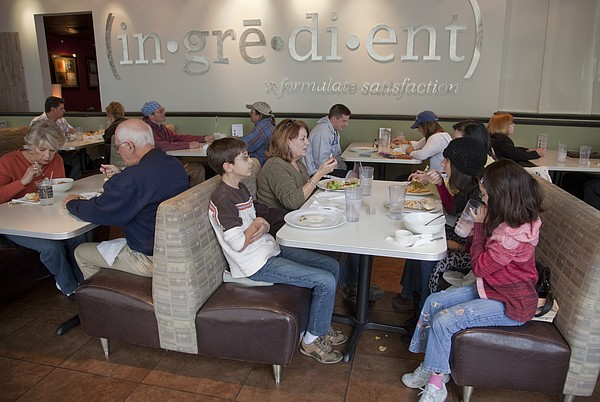 In this file photo from Nov. 9, 2010, customers eat lunch at Ingredient, 947 Massachusetts St.