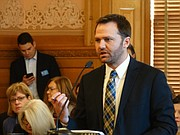 Brad Ridley, commissioner of financial and information services at the Kansas Department for Aging and Disability Services, briefs lawmakers about a $7.1 million over-payment of Medicaid funds that was made to the University of Kansas, money that KU has since returned to the state.