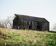 Northeast elevation of Grover Barn, 1981 (Photo by Clay Kappelman, courtesy of the City of Lawrence)