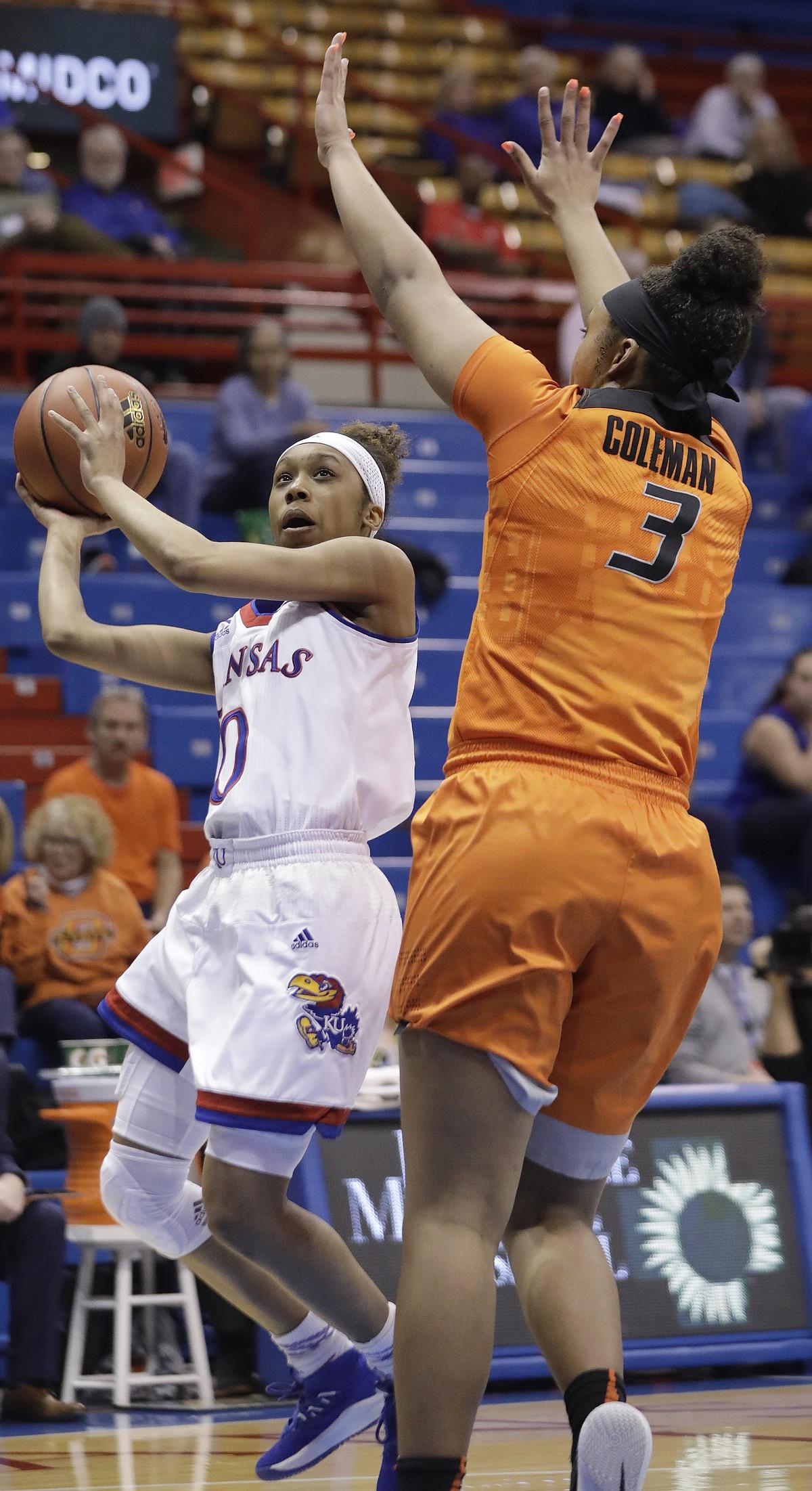 KU women's basketball vs. Oklahoma State   KUsports.com