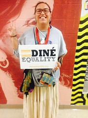 """Bry Smiley, a senior at Haskell Indian Nations University, is the main organizer behind the university&squot;s first ever two-spirit powwow, slated for 2 p.m. to midnight Saturday, Feb. 24. """"Two-spirit"""" refers to the Native American concept of fluid gender identities."""