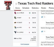 Texas Tech 4 game losing streak