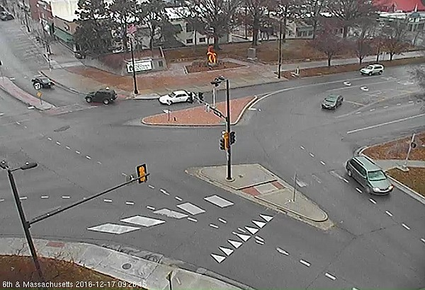 This image from Dec. 17, 2016 shows the feed from a City of Lawrence traffic camera atop City Hall.