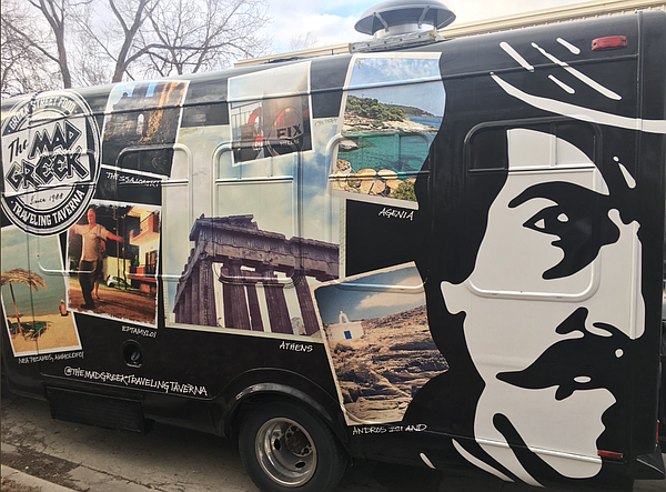 The Mad Greek's new food truck. Courtesy: The Mad Greek.