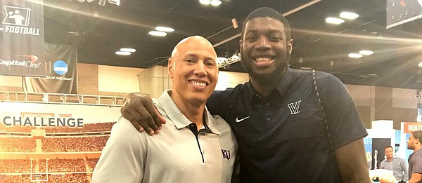 Kansas basketball director of student-athlete development Fred Quartlebaum and Villanova forward Eric Paschall, both from Hobbs Ferry, N.Y., reunite at Final Four weekend, before the Jayhawks take on the Wildcats in the 2018 national semifinals.