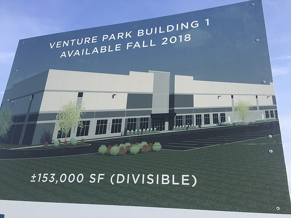 A rendering of a proposed industrial building at VenturePark.