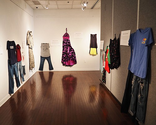 "The ""What Were You Wearing?"" installation, on display at the Kansas Union gallery through April 27, re-creates the outfits sexual-assault victims were wearing during their attacks."
