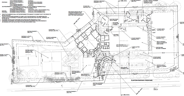 A proposed site plan for Bishop Seabury's campus in west Lawrence. Plans by SK Design Group, courtesy city of Lawrence.