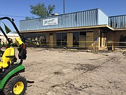 Heritage Tractor, 1110 E. 23rd St., is pictured Monday, May 7, 2018, two days after being heavily damaged by fire.