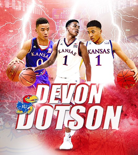 Freshman point guard Devon Dotson will be asked to both play and fill a big role for the Jayhawks during the 2018-19 season.