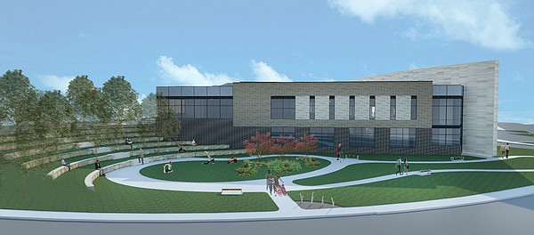 An amphitheater and therapy garden area planned for the LMH facility.