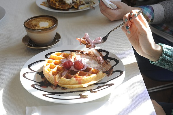 This file photo from February 2015 shows an offering from The Waffle Iron at its old location inside Decade coffee shop.