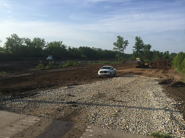 Excavation work underway along 31st Street on property owned by DCCCA.